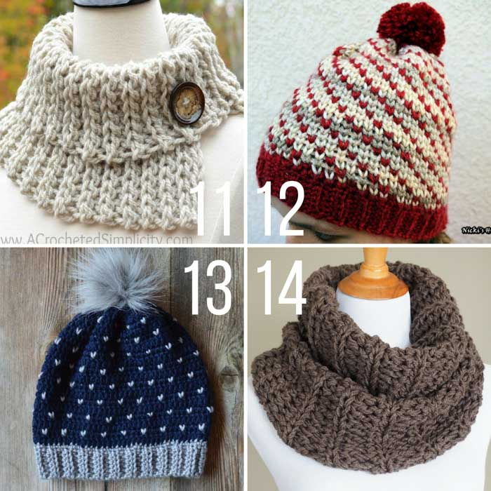 Each of these free patterns magically use crochet that looks like knitting to create on-trend hats, sweaters, mittens and more. If you love the look of knit stockinette, but prefer to crochet, you'll love this collection of easy crochet patterns.