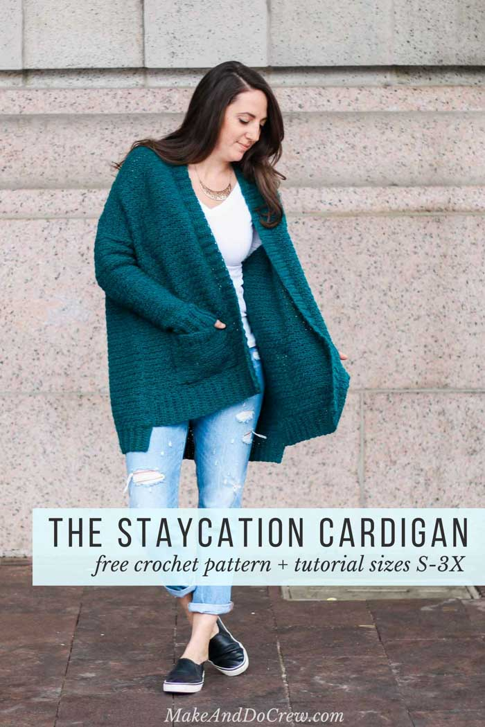 The Staycation Womens Crochet Cardigan Pattern Free Pattern