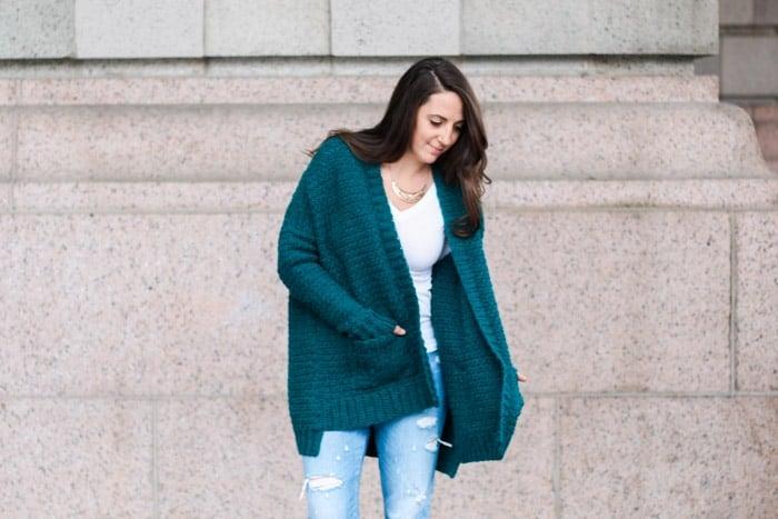 The Staycation Women's Crochet Cardigan Pattern - Free Pattern + tutorial