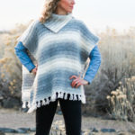 Braided Women's Crochet Poncho – Free Pattern + Tutorial