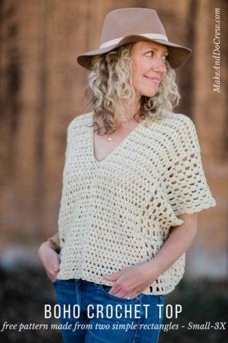 easy-crochet-top-free-pattern (3) - Make & Do Crew