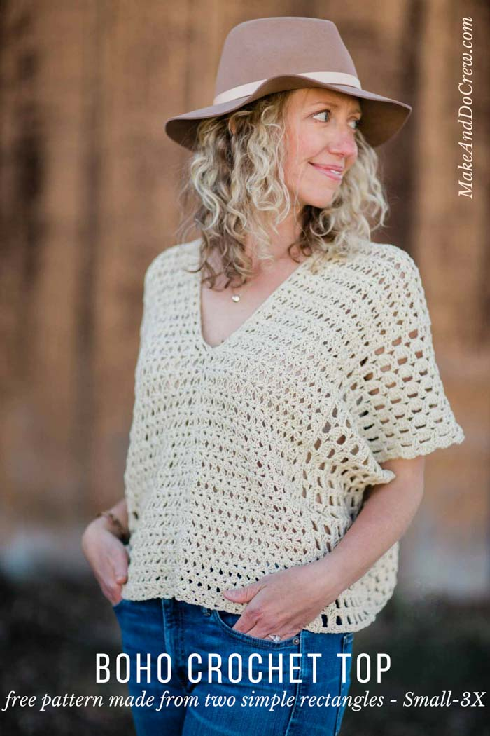 Poncho-Style Summer Crochet Top - Free Pattern! - Make & Do Crew