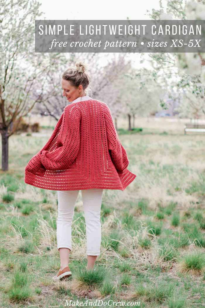 This easy crochet cardigan pattern is made from two simple hexagons, making this sweater perfect for beginners. Free pattern and tutorial features Lion Brand Vanna's Style and includes plus sizes.