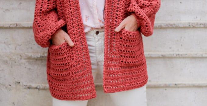 Easy Crochet Hexagon Cardigan – Step-by-Step Video Tutorial