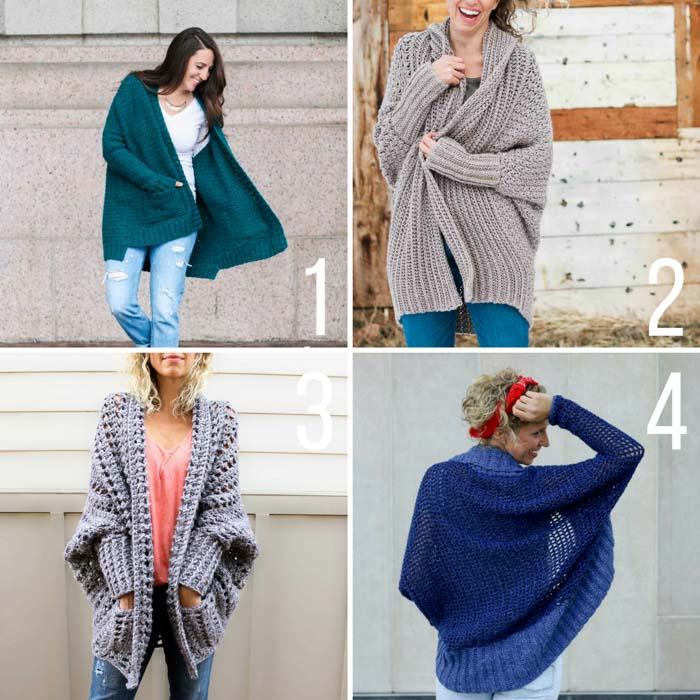 Free crochet sweater patterns for beginners from Make and Do Crew using Lion Brand Yarns