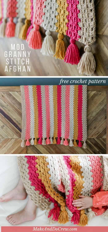 Modern Crochet Blanket Granny Stitch Make Do Crew