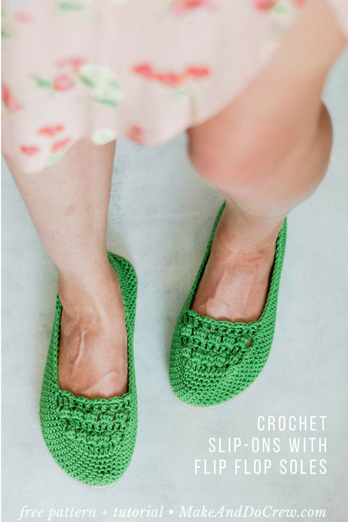 How To Crochet Shoes Free Slip Ons Pattern Tutorial Using Flip