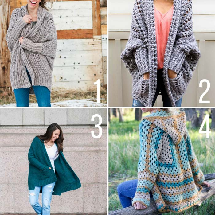 Free crochet sweater patterns featuring LIon Brand Yarn. Many of these patterns include video tutorials and are appropriate for beginners!