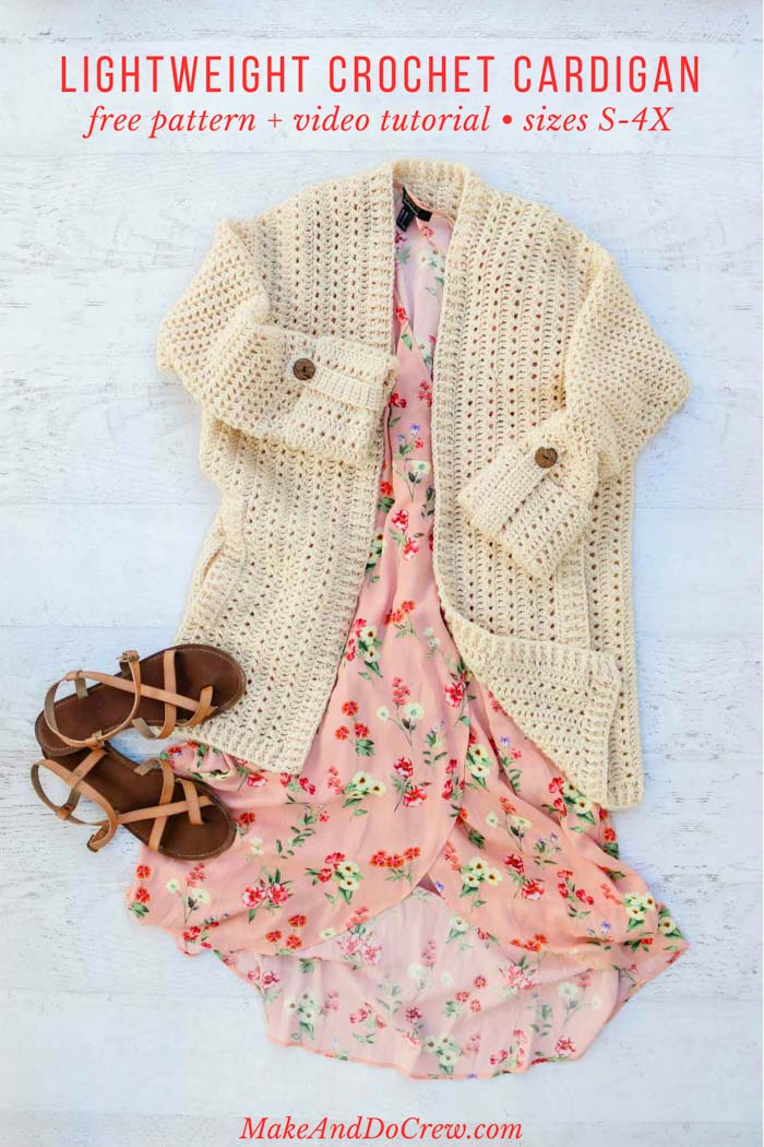 This summer crochet cardigan is perfect to wear on a date, to a wedding or to work. Free pattern and easy video tutorial.