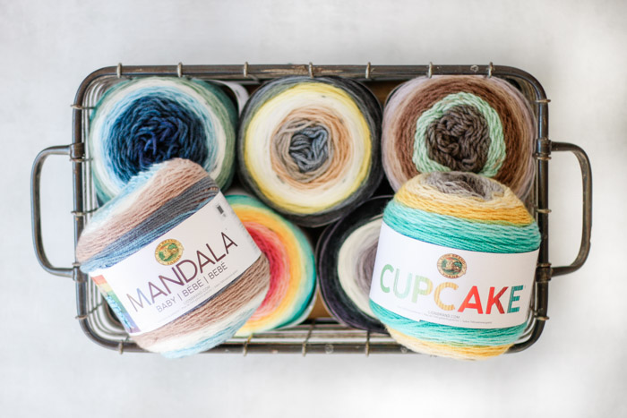 Learn how to deconstruct Lion Brand Mandala or Cupcake yarn to form your own gradients or ombre effects in any crochet or knit pattern.
