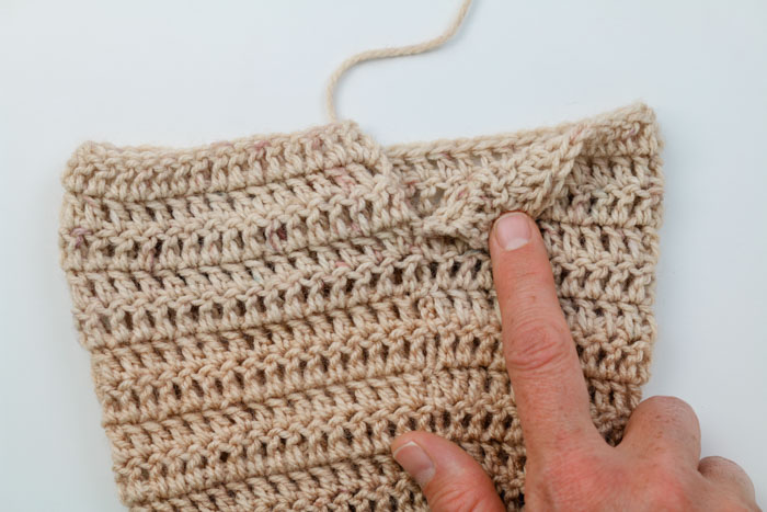 How to crochet in turned rounds to make crochet sweater sleeves.