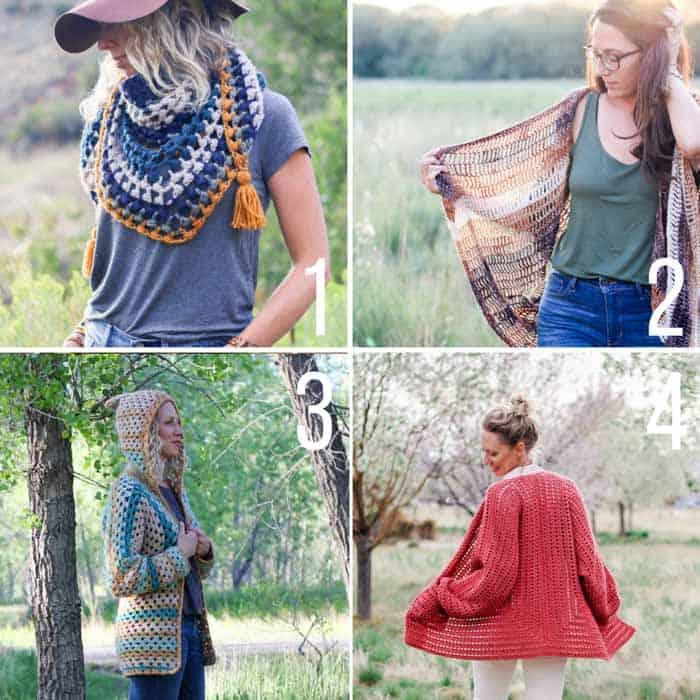 Free crochet patterns to make with yarn cakes like Lion Brand Mandala Yarn.