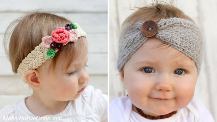 Free Crochet Headband Patterns For Babies Make Do Crew