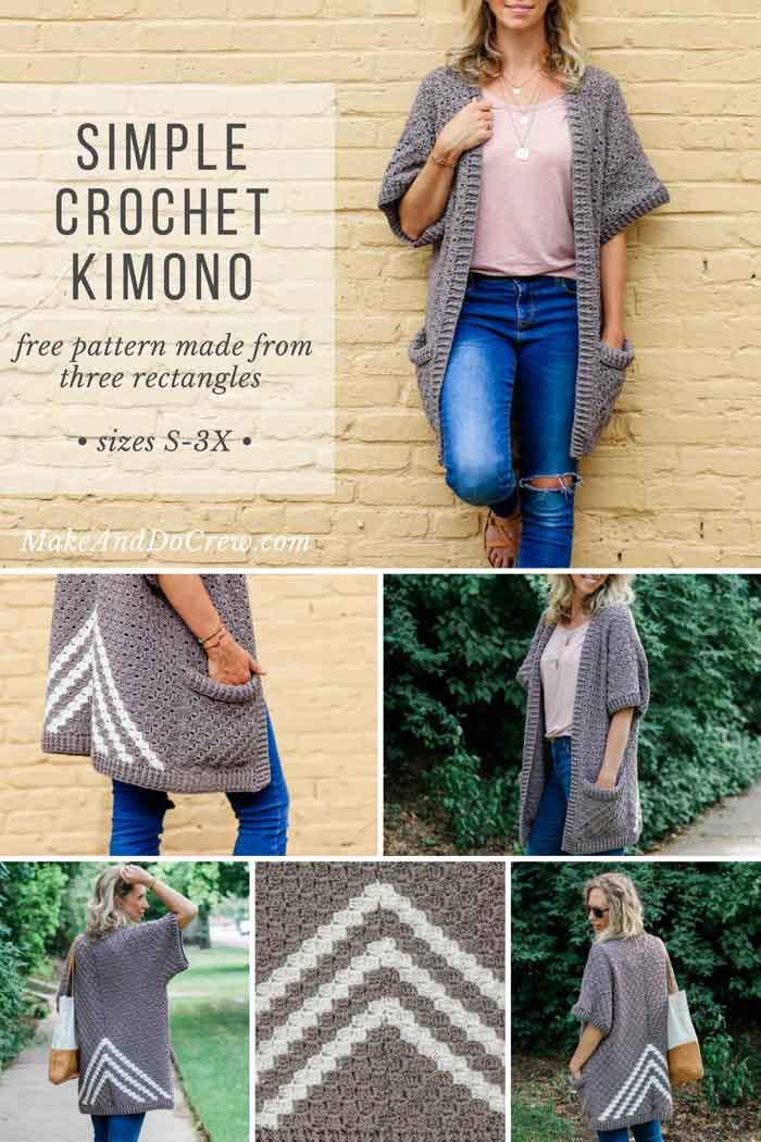 Free Crochet Kimono Pattern Plus Sizes C2c Make Do Crew