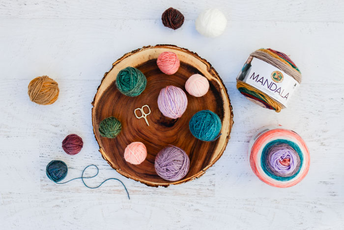 Learn how to remix your own cake yarn by deconstructing skeins of Lion Brand Mandala, Caron Cakes, Sweet Rolls or any other cake yarn! Step-by-step tutorial!