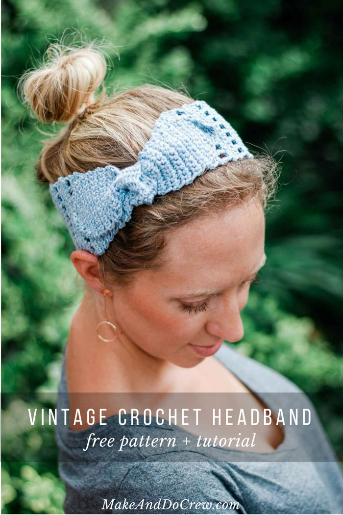 Whether you love vintage or bohemian style, this knotted summer crochet headband for women will let you skip a shampoo and look gorgeous doing it. Quick + easy tutorial!