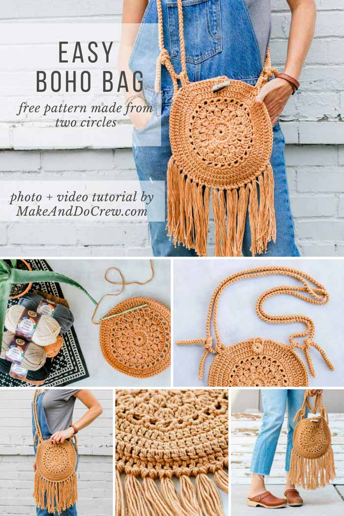 Free Crochet Hippie Bag Purse Pattern Make Do Crew