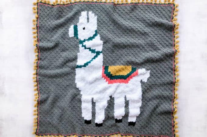 Alpaca (or Llama!) Corner-to-Corner Crochet Blanket – Free Pattern