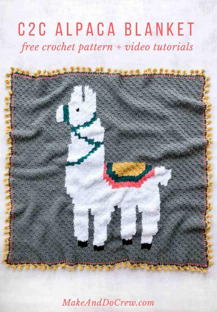 Alpaca (or Llama!) Corner-to-Corner Crochet Blanket - Free