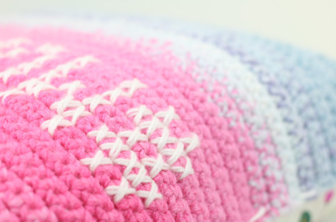 How to Cross Stitch On Crochet (+ Design Your Own Graphs!)