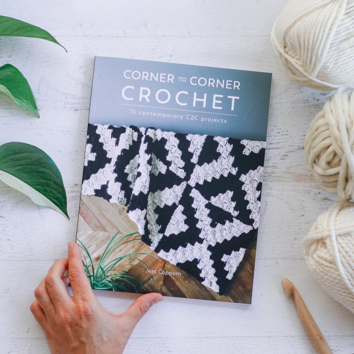 Corner to Corner Crochet: 15 Contemporary C2C projects book by Jess Coppom of Make & Do Crew