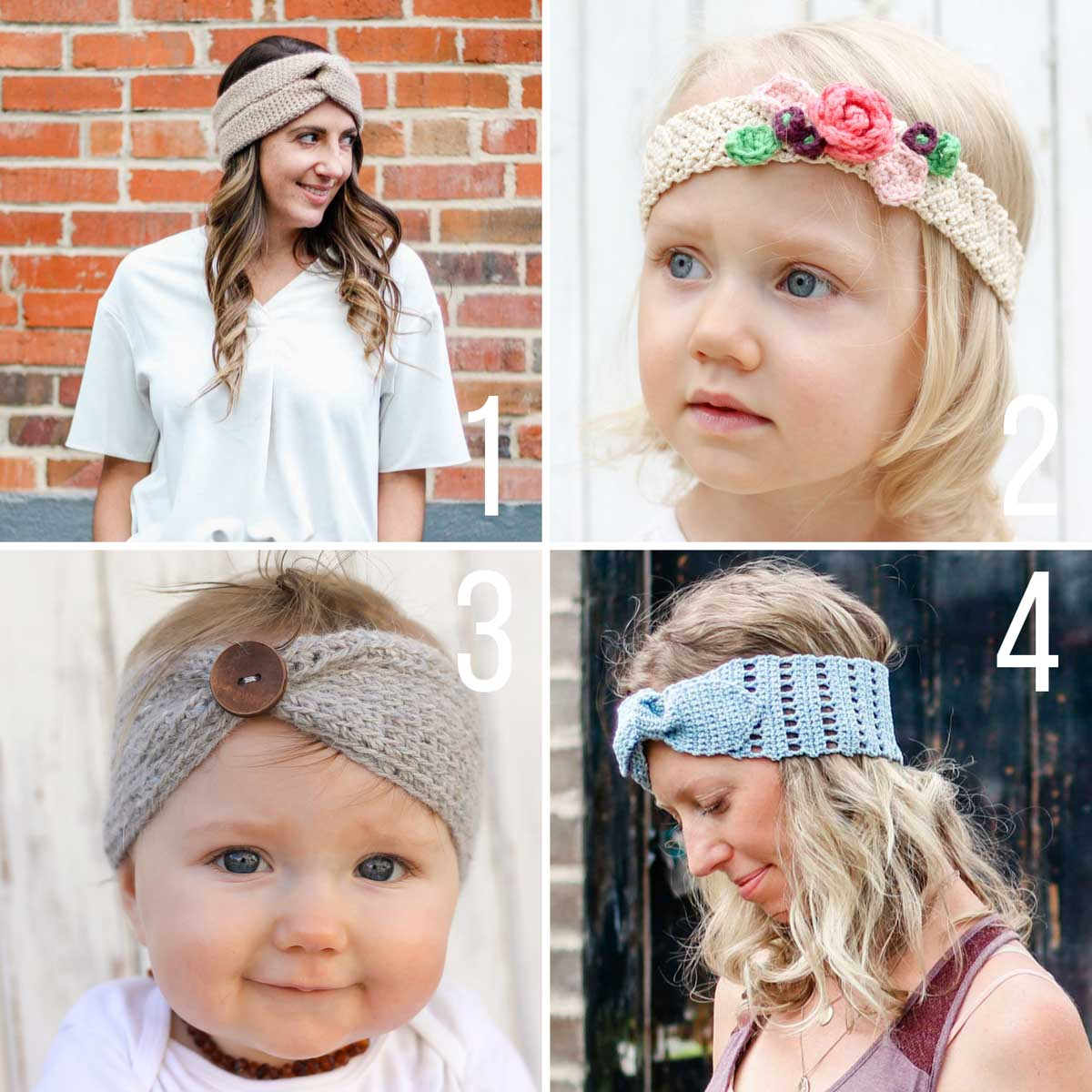 Free crochet patterns for headbands. Wear them for every season!