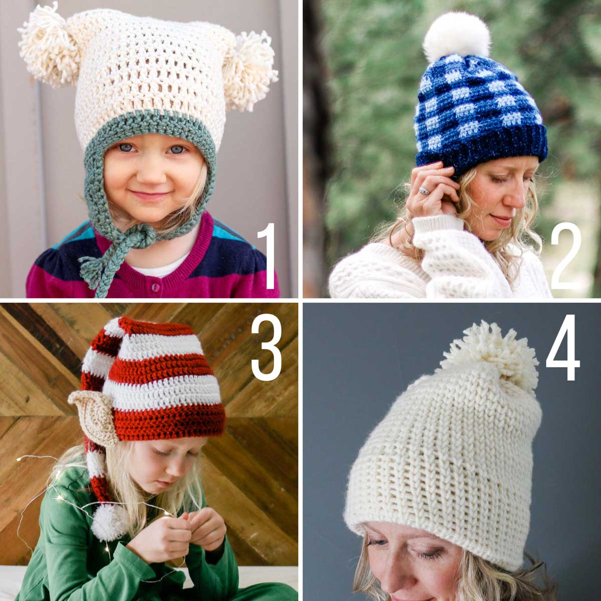 Four free crochet hat and beanie patterns