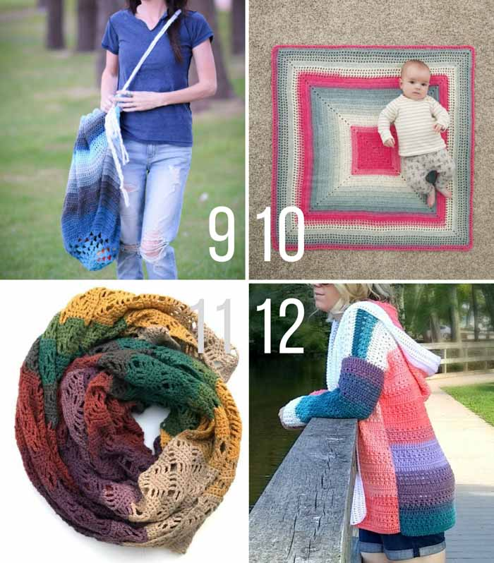 This collection of Lion Brand Mandala yarn free crochet patterns includes beanies, scarves, blankets, sweaters, mittens and more! Go ahead and paint your world colorful with this magical self-striping yarn!