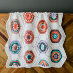 Grandmother's Flower Garden Crochet Hexagon Blanket
