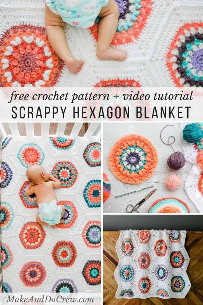 Scrap Yarn Crochet Blanket Free Afghan Pattern Make Do Crew