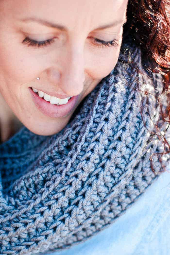 Knit Look Crochet Infinity Scarf Pattern Free 4 Make Do Crew