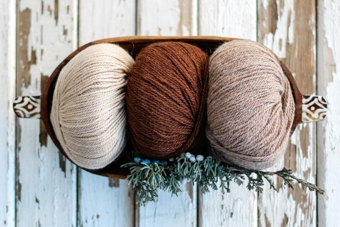 Beautiful colors of Lion Brand LB Collection Baby Alpaca yarn.