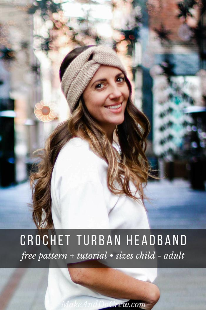 You won't believe how easy it is to make this turban crochet headband! The twist is so in style and takes only beginner skills. Free pattern and tutorial.