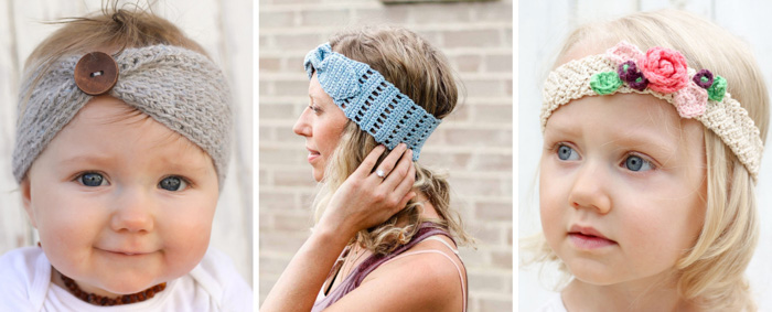 Free crochet headband patterns and tutorials for babies, kids, children, teens and adults. Perfect patterns for the women in your life!