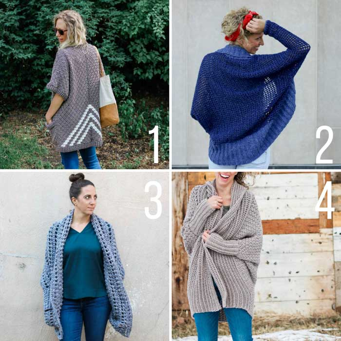 Free crochet sweater patterns made from rectangles. Beginner video tutorials and free patterns featuring Lion Brand Yarn.