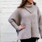 Simple Crochet Poncho With Sleeves – Free Pattern Made From Rectangles
