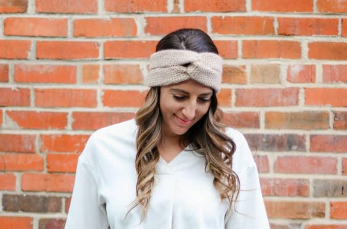 Knit-Look Twist Crochet Headband – Free Pattern