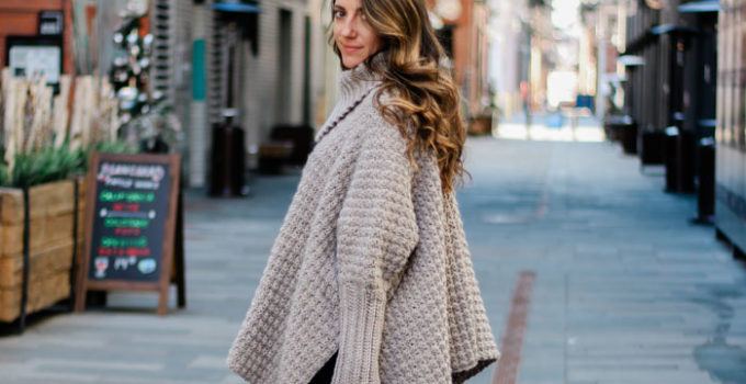 Stylish Sweater-Style Crochet Poncho Video Tutorial For Beginners