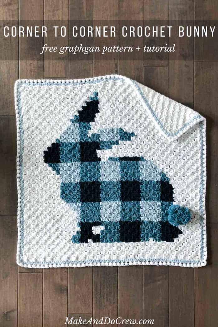 Corner To Corner Crochet Bunny Blanket Free Modern C2c Pattern