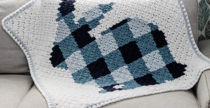 Corner to Corner Crochet Bunny Blanket – Free Pattern