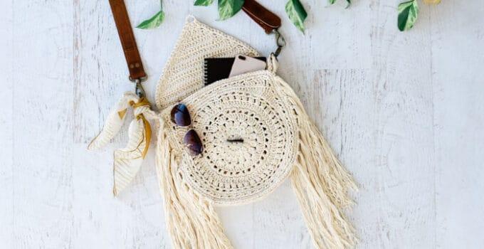 Bohemian Fringed Crochet Bag – Free Pattern