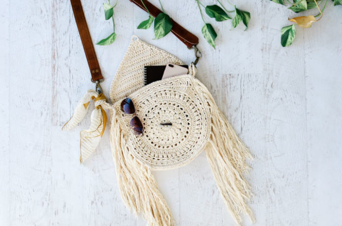 Bohemian Fringed Crochet Bag – Free Pattern