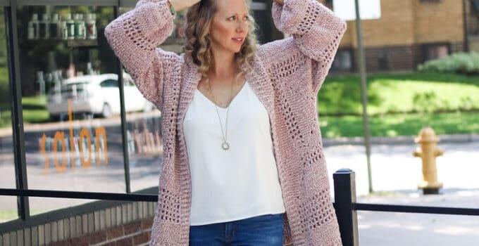 Hexagon Crochet Cardigan Sweater – Free Pattern