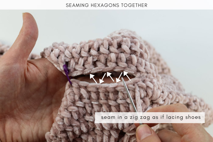 How to seam crochet cardigan