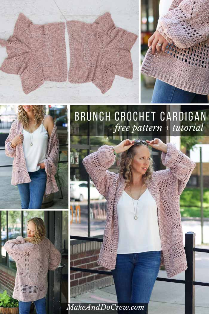 This velour crochet cardigan sweater pattern is the comfiest thing you'll ever make! Free pattern + tutorial featuring Lion Brand Yarn.