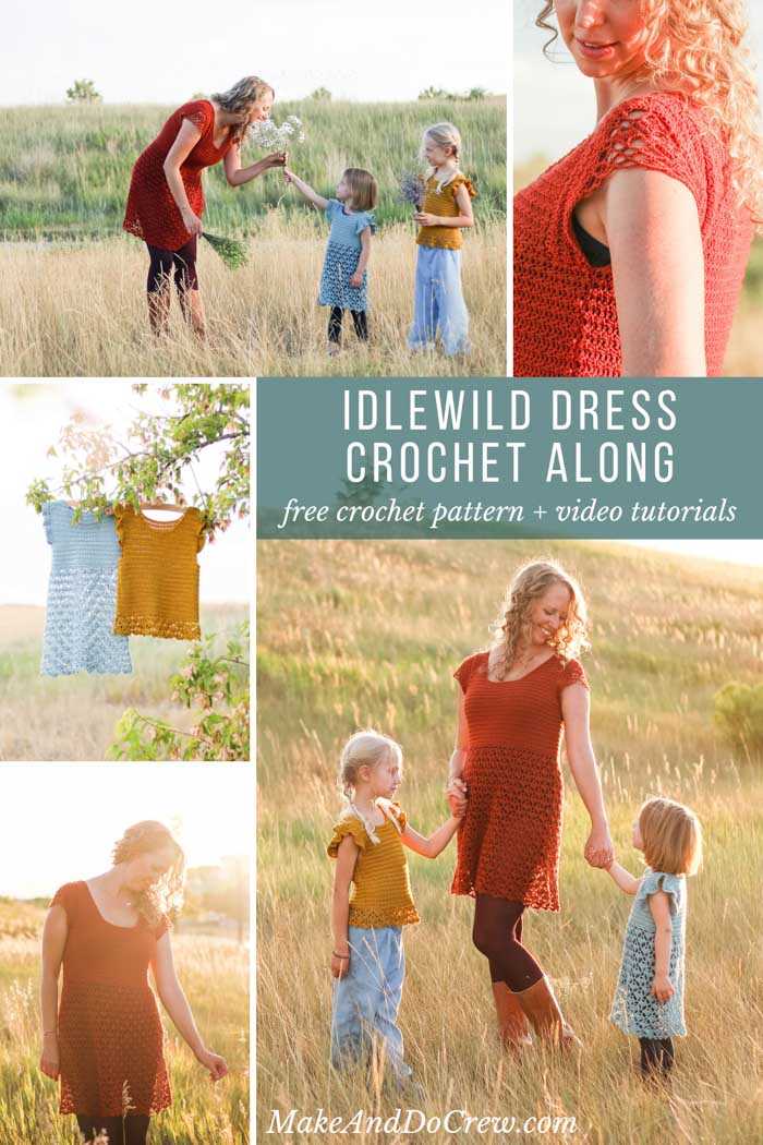 Idlewild Dress crochet along • September 2019. Free dress pattern for women and girls with plus sizes. Includes step by step video tutorials!