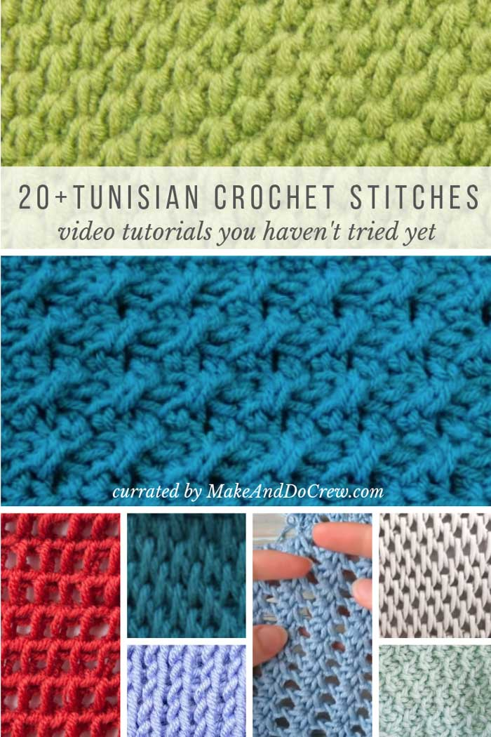 20+ Tunisian crochet stitches with video tutorials that you haven't seen before!