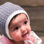 Easy Crochet Baby Bonnet – Free Pattern by Bonnie May Blue