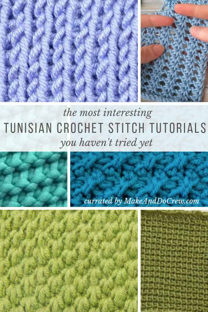 Ready to learn how to Tunisian crochet or expand your stitch repertoire? This list of Tunisian crochet stitches with video tutorials is for you!