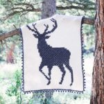 C2C Crochet Buck Graphgan – Free Deer Blanket Pattern